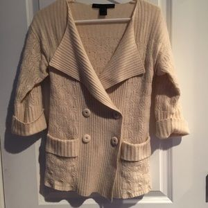 MARC BY MARC JACOBS—cream pointelle sweater